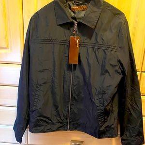 Men's Black Windbreaker Jacket (NWT) Perry Ellis